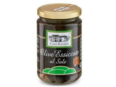 Černé olivy s pomerančovou kůrou