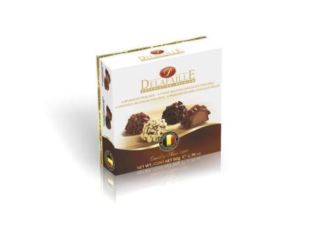 Čokoládové belgické pralinky a posypem
