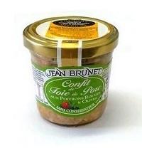 Confit z vepř jater s paprikou a olivami