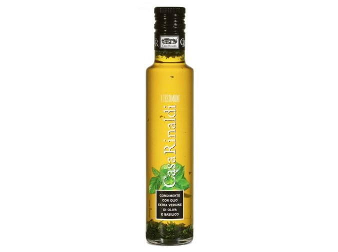Olivový olej s bazalkou