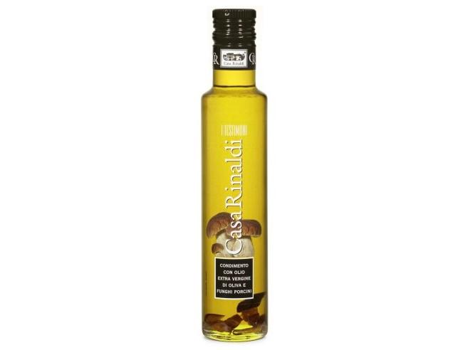 Olivový olej s hříbky