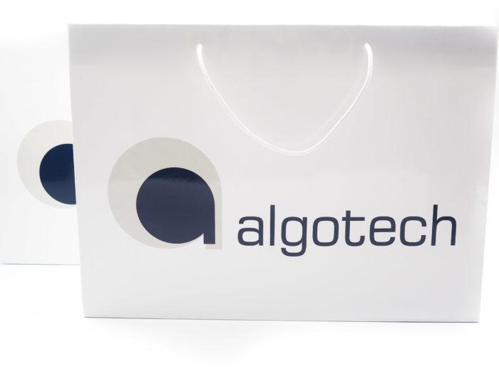 Papírová taška s reklamním potiskem