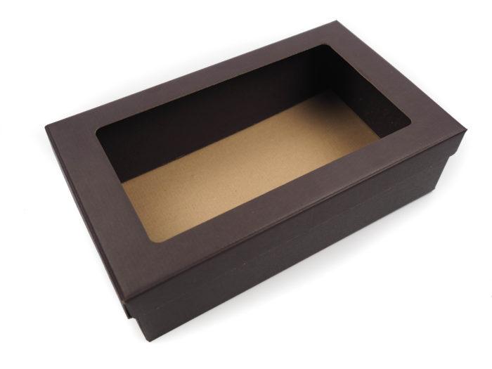 Dárková krabice na víno čokoládově hnědá