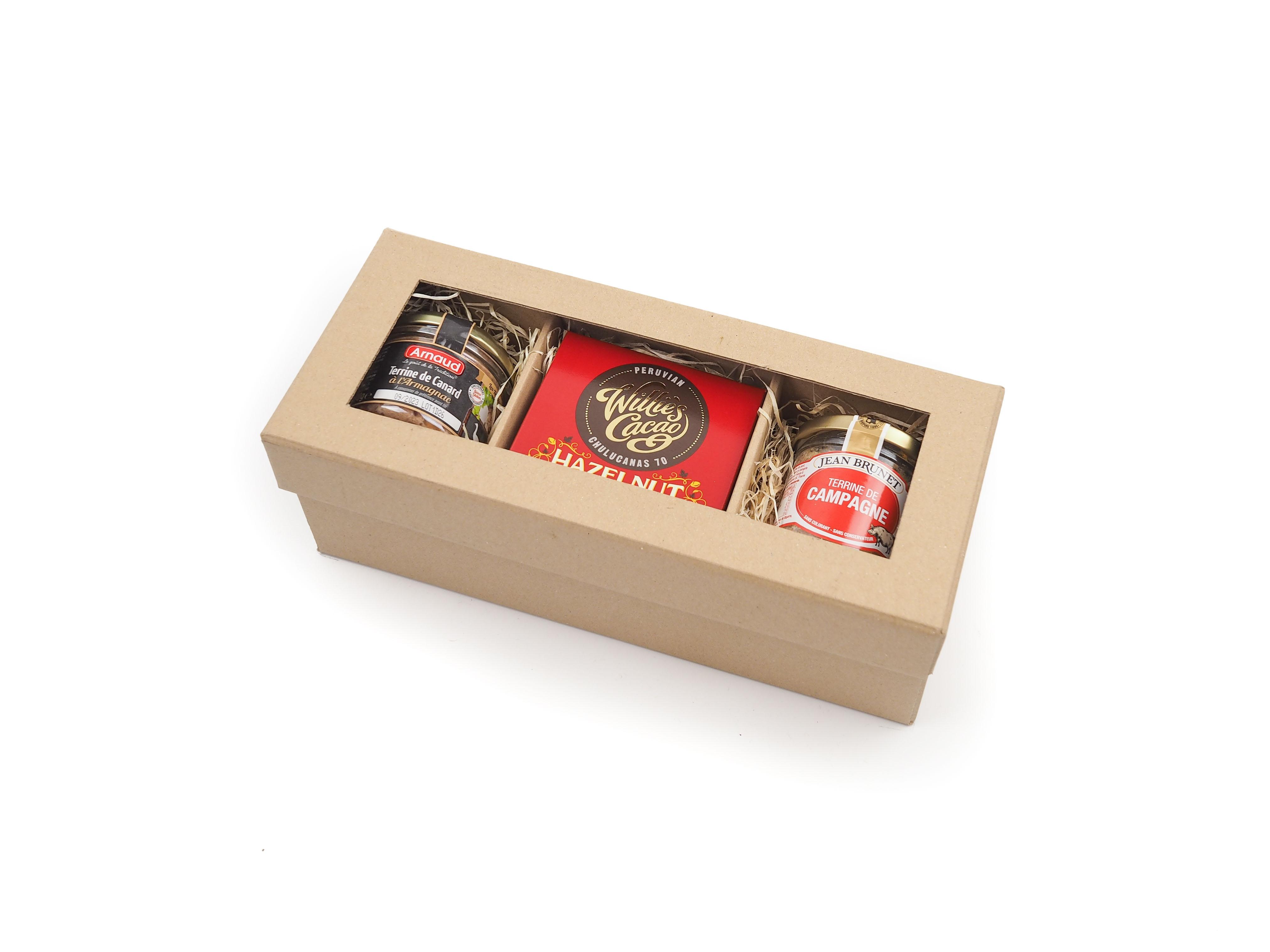 Dárková krabička Masové pochutiny s čokoládou