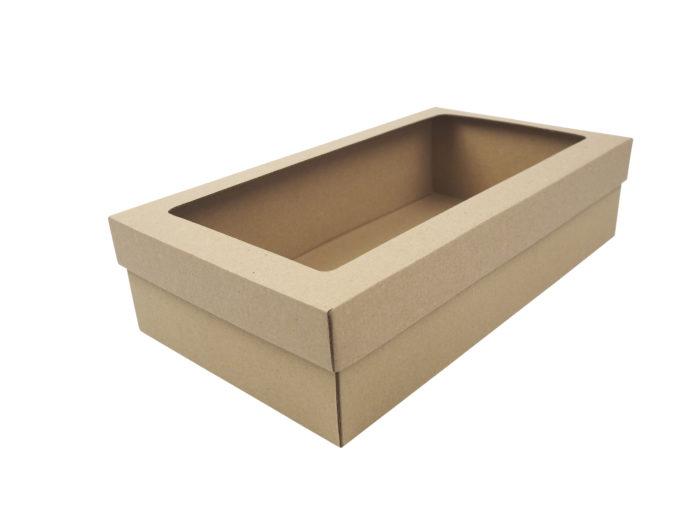 Přírodní hnědá krabice na 2 vína