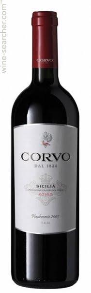 Červené sicilské víno Corvo