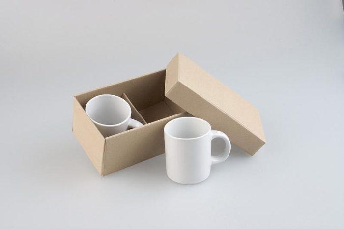 Krabička na dva hrnečky s dřevitou vlnou
