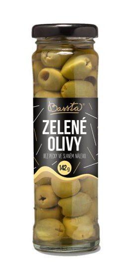 Zelené olivy bez pecek